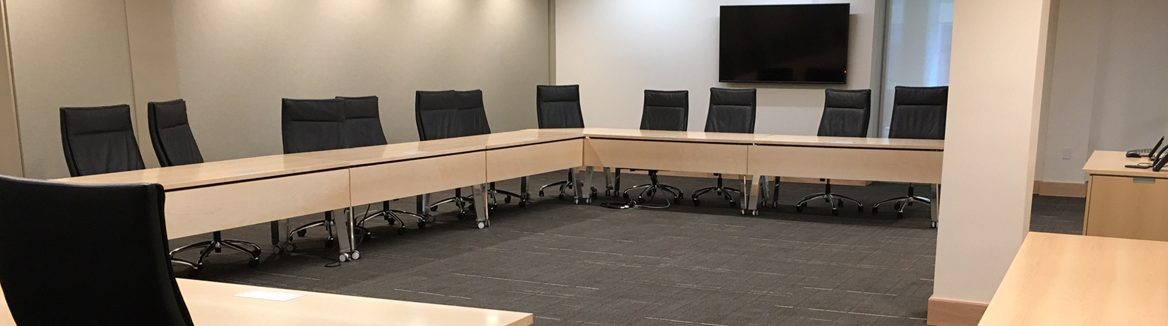 Photo of the board room in Cabell Library