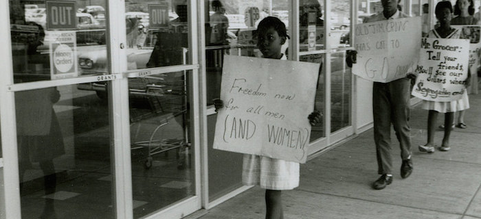 Civil rights protest at the Safeway store in Farmville, 1963